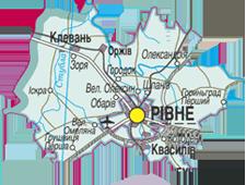 Карта Рівненського району